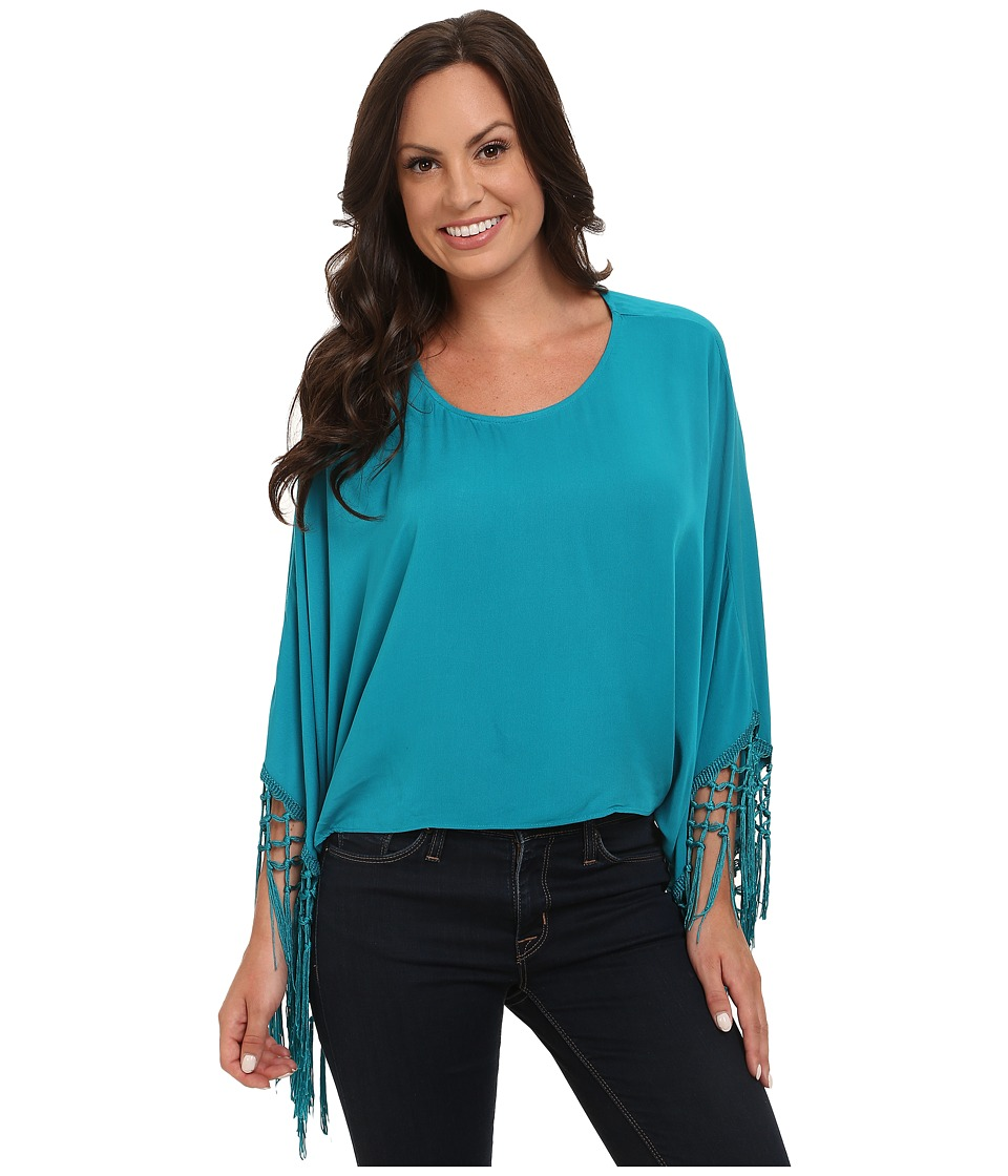 Ariat - Buscadero Tunic (Teal) Women's Short Sleeve Pullover
