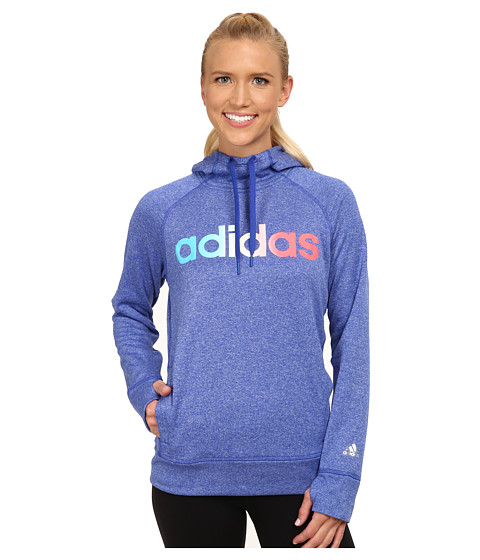 adidas - Ultimate Fleece Logo Pullover Hoodie (Bold Blue) Women