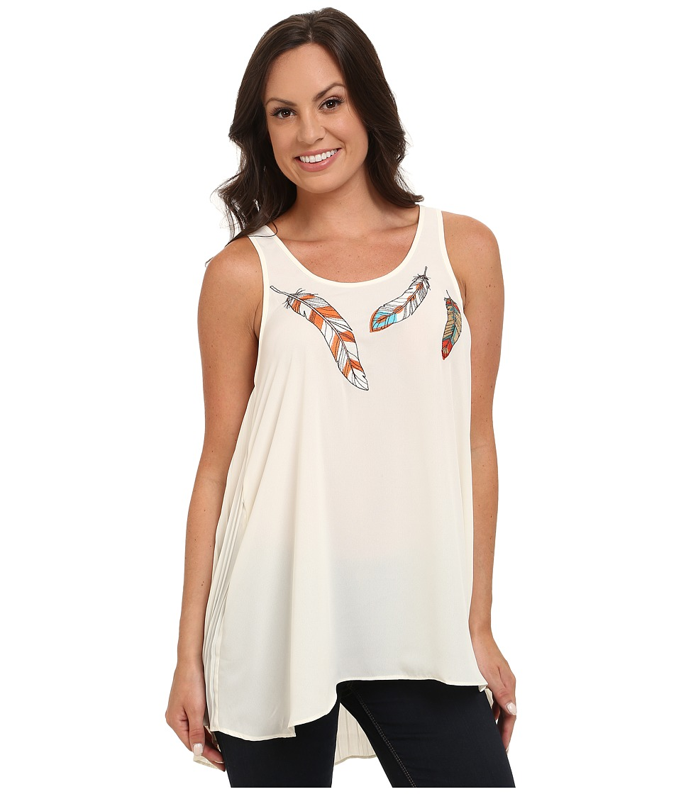 Ariat - Free Spirit Tank Top (Whisper White) Women's Sleeveless