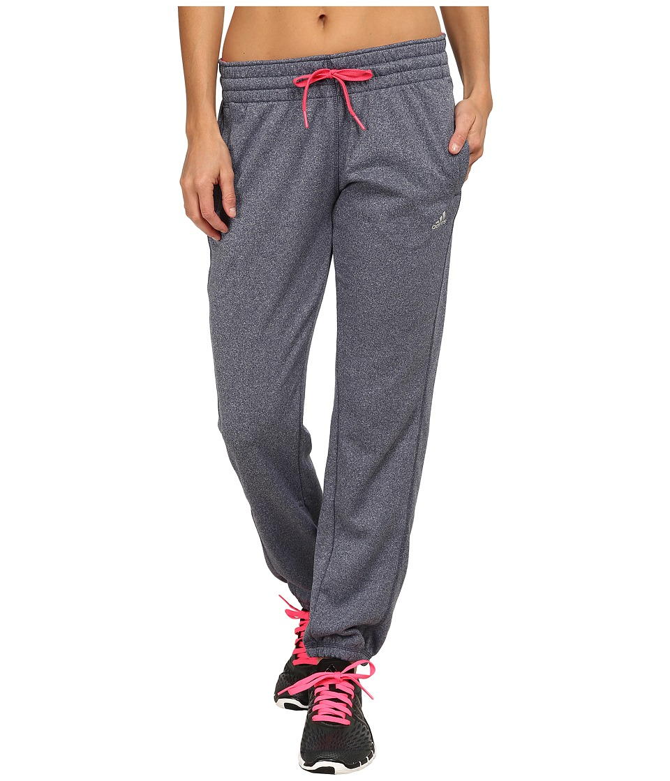 adidas - Ultimate Fleece Banded Pants (Midnight Grey/Super Pink) Women's Workout