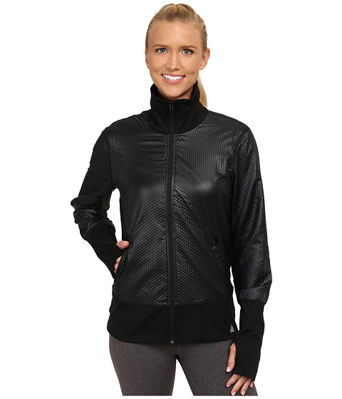 adidas - 3D Woven Jacket (Black/Matte Silver) Women's Workout