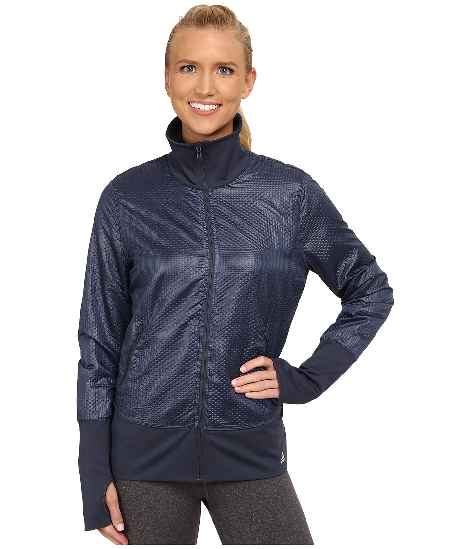 adidas - 3D Woven Jacket (Midnight Grey/Matte Silver) Women's Workout