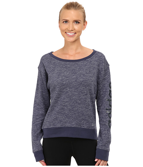 adidas - 24 Seven Crew (Midnight Grey M lange) Women's Long Sleeve Pullover