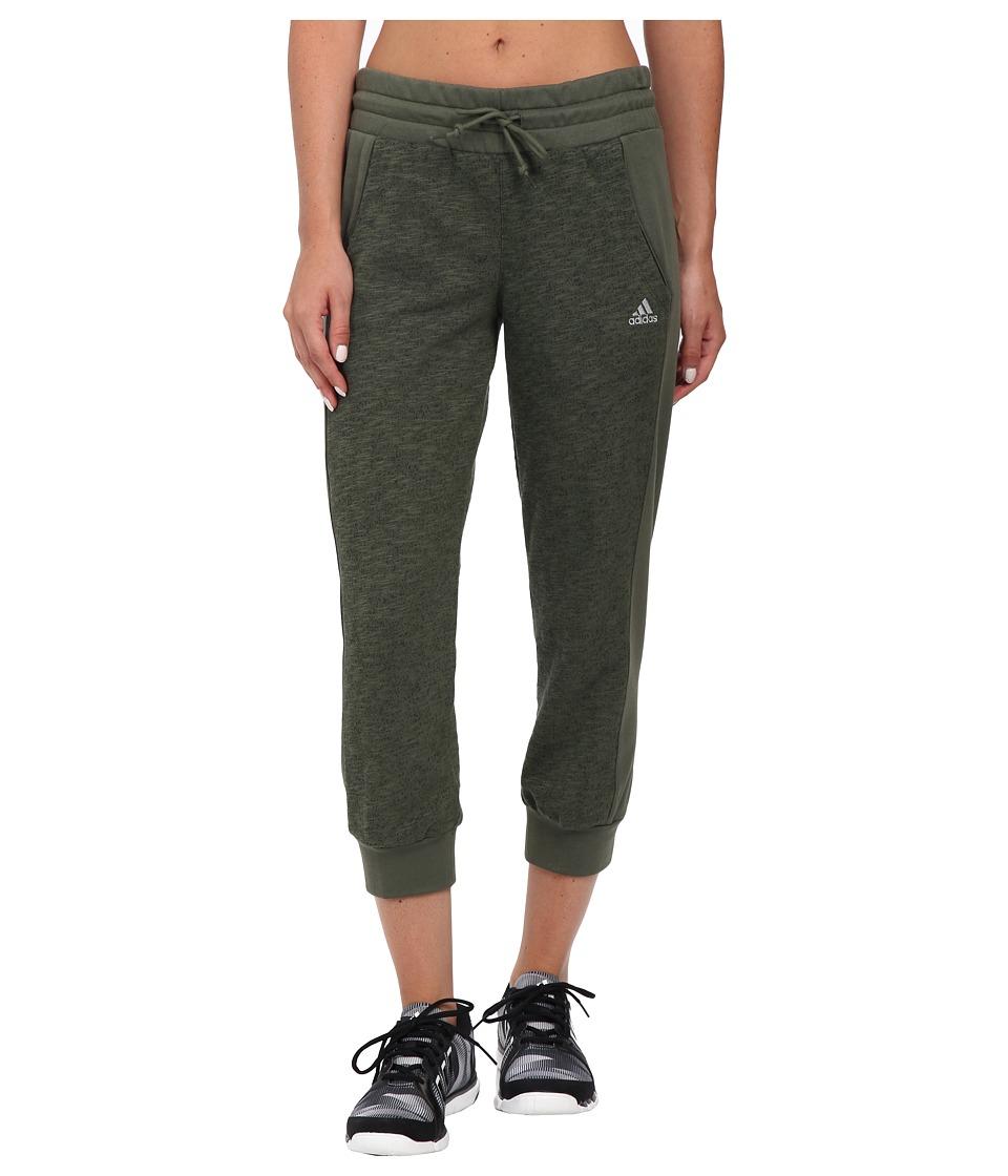 adidas - 24 Seven Capris (Base Green M lange/Base Green) Women