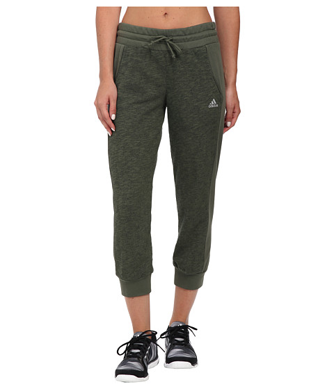adidas - 24 Seven Capris (Base Green M lange/Base Green) Women's Capri