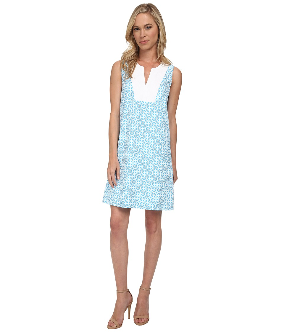 Pendleton - Petite Vista Dress (Carolina Blue Geo Print) Women's Dress