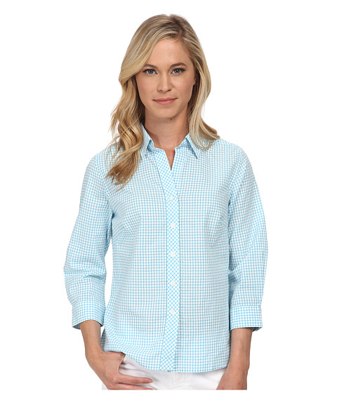 Pendleton - Petite Sophie Shirt (Carolina Blue/White Tattersall) Women