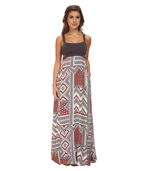 L*Space - Natasha Maxi Cover-Up (Charcoal) Women's Swimwear