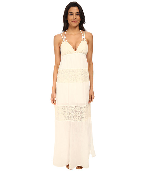 L*Space - Goldie Maxi Cover-Up (Ivory) Women's Swimwear