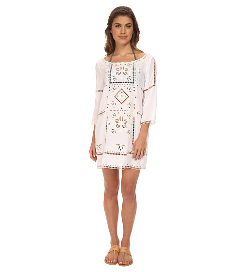 L*Space - Frida's Tunic Cover-Up (White) Women's Swimwear