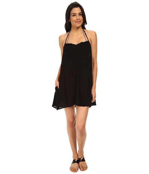 L*Space - Drifter Tunic Cover-Up (Black) Women's Swimwear