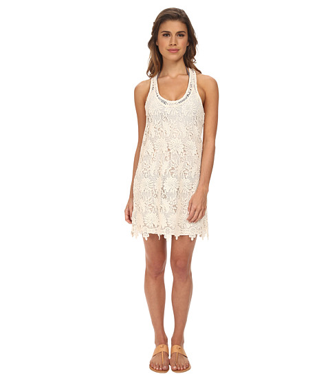 L*Space - Sylvie Lace Mini Cover-Up (Natural) Women