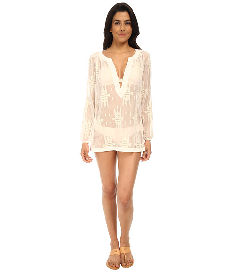 L*Space - Sunset Tunic Cover-Up (White) Women's Swimwear
