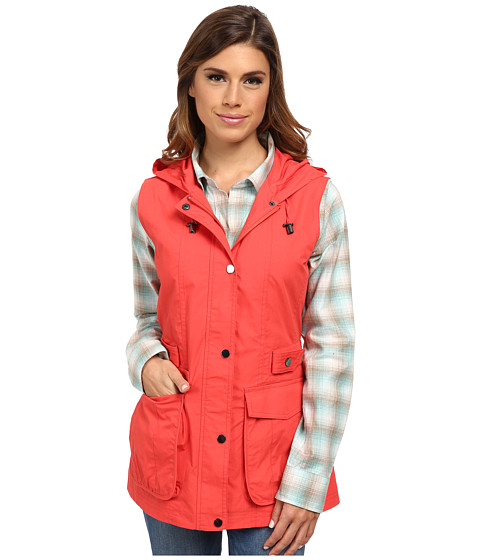 Pendleton - Hooded Vest (Poppy Red) Women