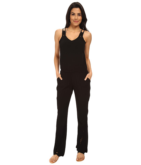 L*Space - Bardot Romper Cover-Up (Black) Women's Swimwear
