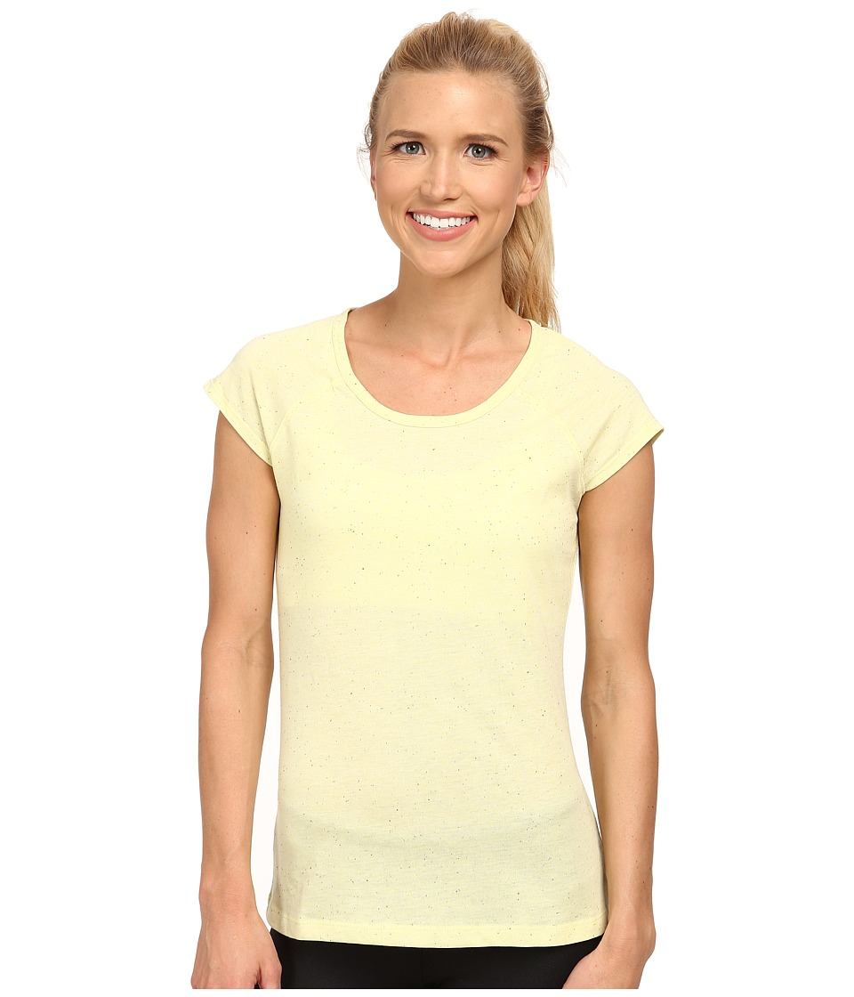 Jockey Active - Speck Jersey Top (Frosty Citrus) Women's Short Sleeve Pullover
