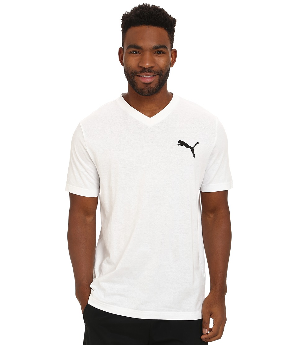 PUMA - Ideal V Tee (White/Black) Men's T Shirt