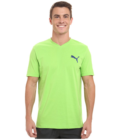 PUMA - Ideal V Tee (Jasmine Green/Limoges) Men's T Shirt