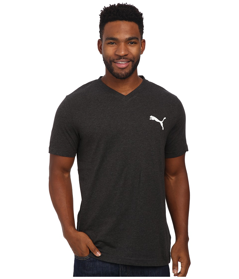 PUMA Ideal V Tee (Dark Gray Heather/White) Men