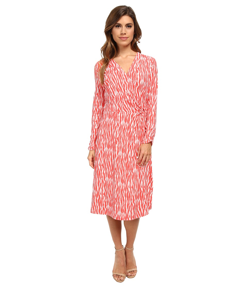 Pendleton - Breezeway Dress (Salmonberry/Ivory Zebra Knit Print) Women's Dress