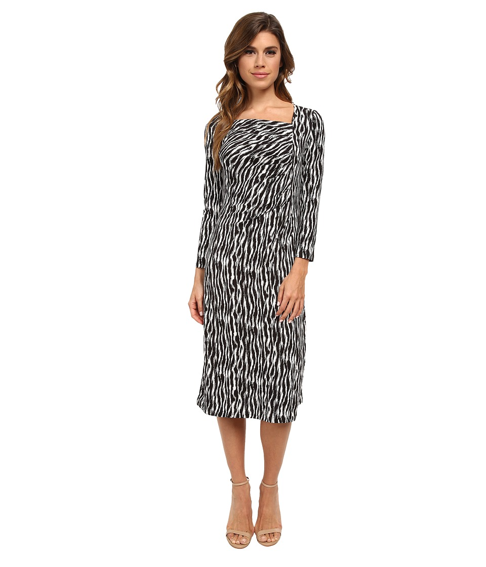 Pendleton - Cynthia Dress (Black/Ivory Zebra Knit Print) Women's Dress