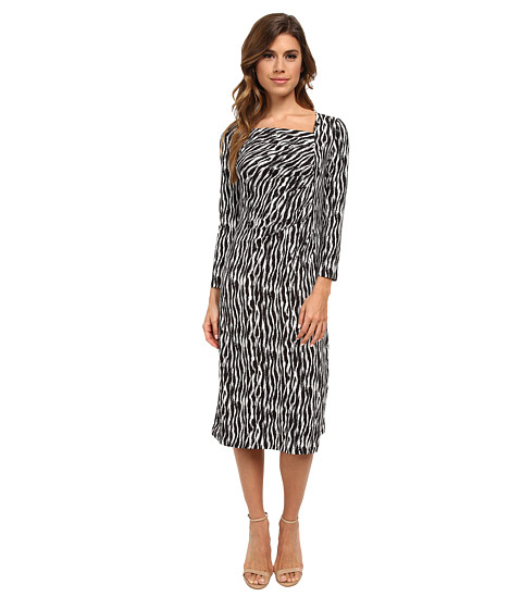 Pendleton - Cynthia Dress (Black/Ivory Zebra Knit Print) Women