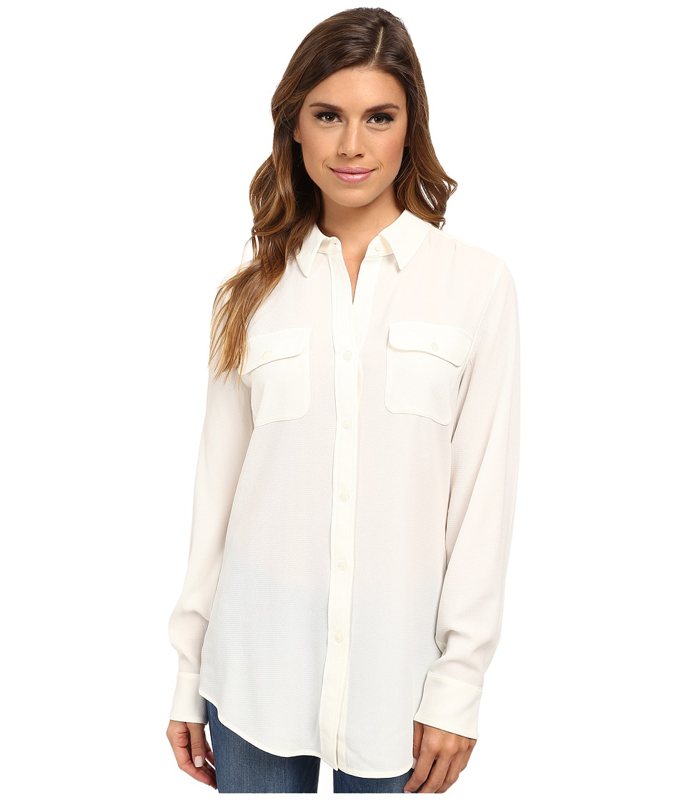 Pendleton - Double Pocket Blouse (Ivory) Women's Long Sleeve Button Up