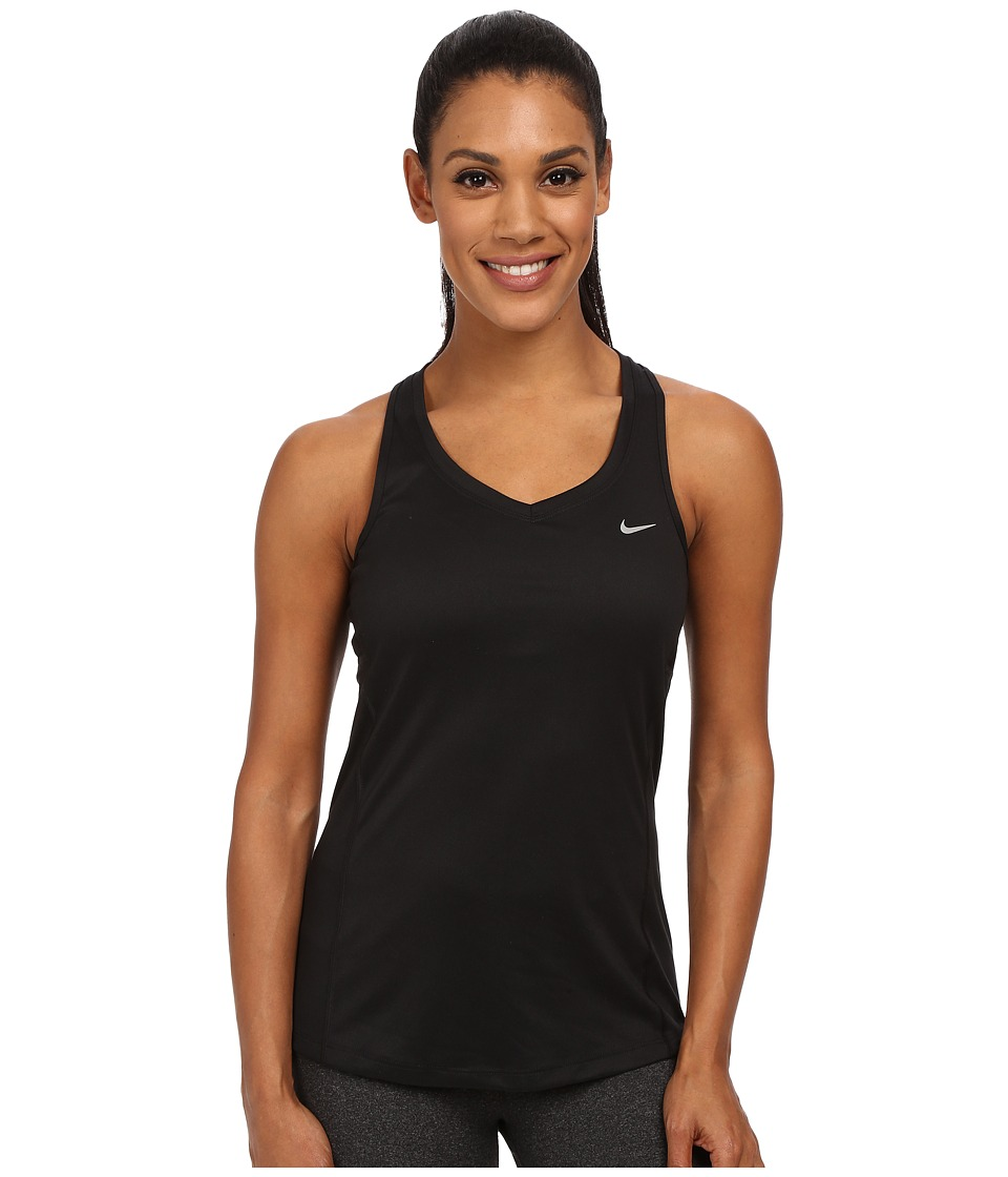 Nike - Dri-FIT Miler Tank Top (Black) Women's Sleeveless