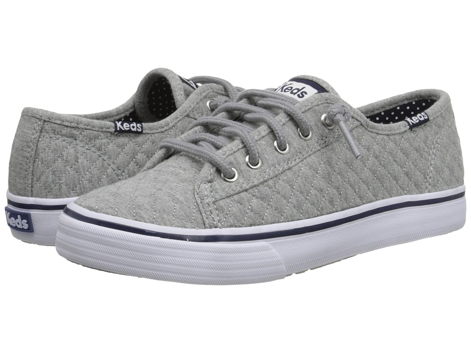 Keds Kids - Double Up (Little Kid/Big Kid) (Grey Quilt) Girl's Shoes