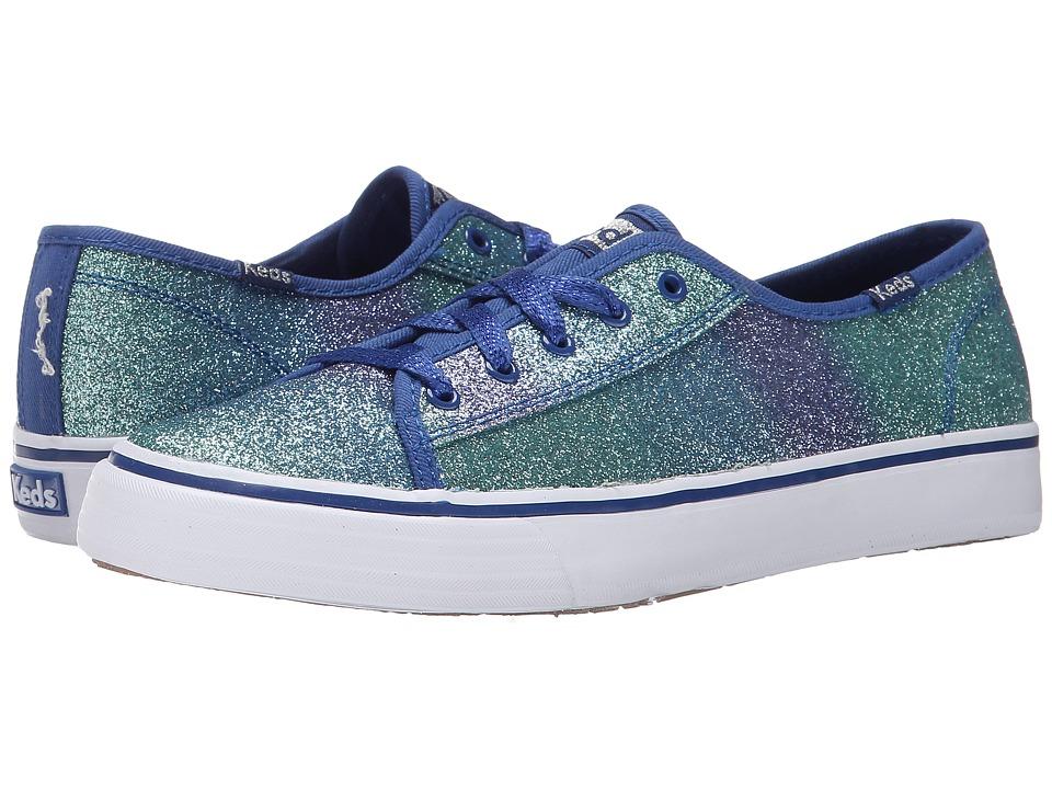 Keds Kids - Double Up (Little Kid/Big Kid) (Blue Glitter Fade) Girl's Shoes