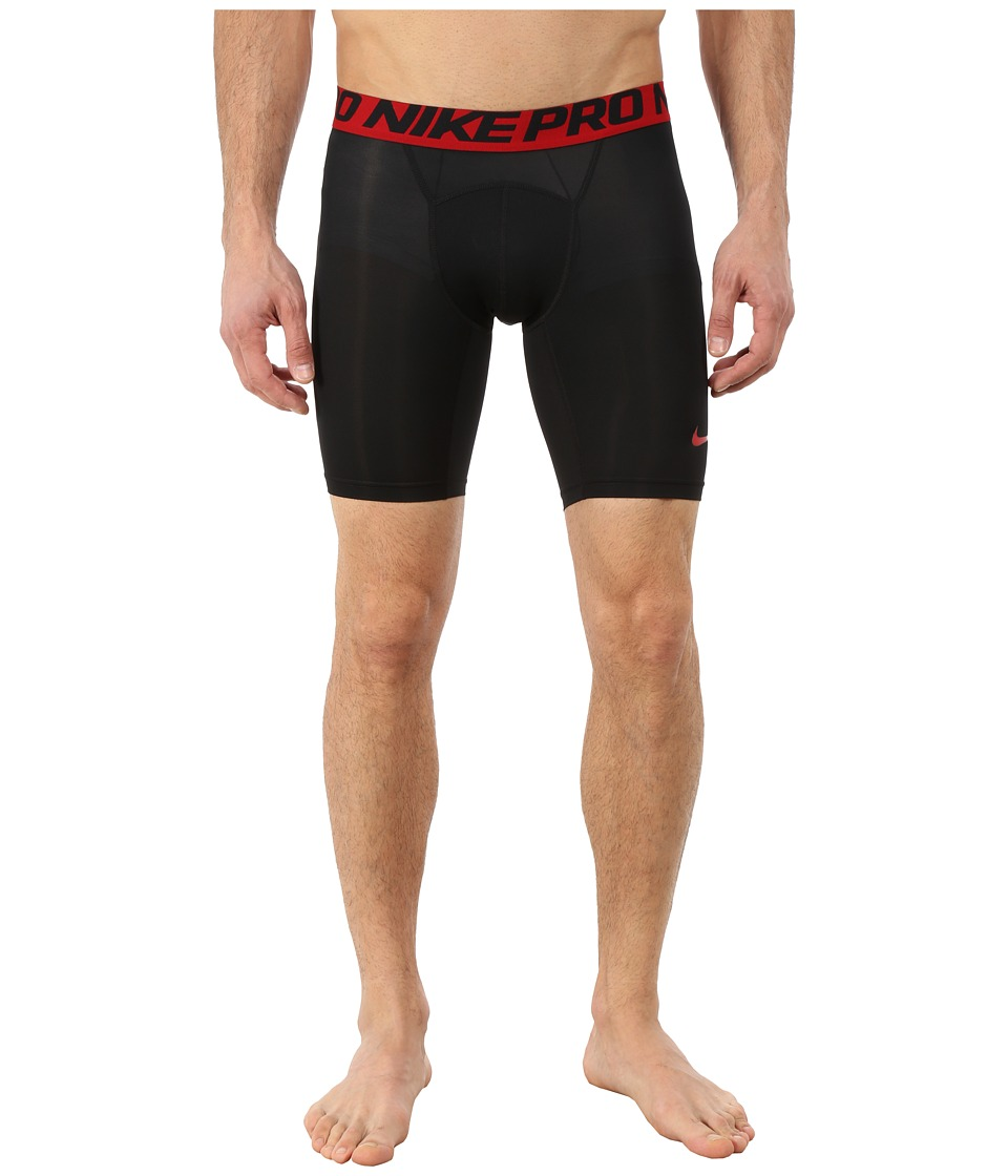 Nike - Pro Cool Compression 6 Short (Black/Gym Red/Gym Red) Men's Shorts