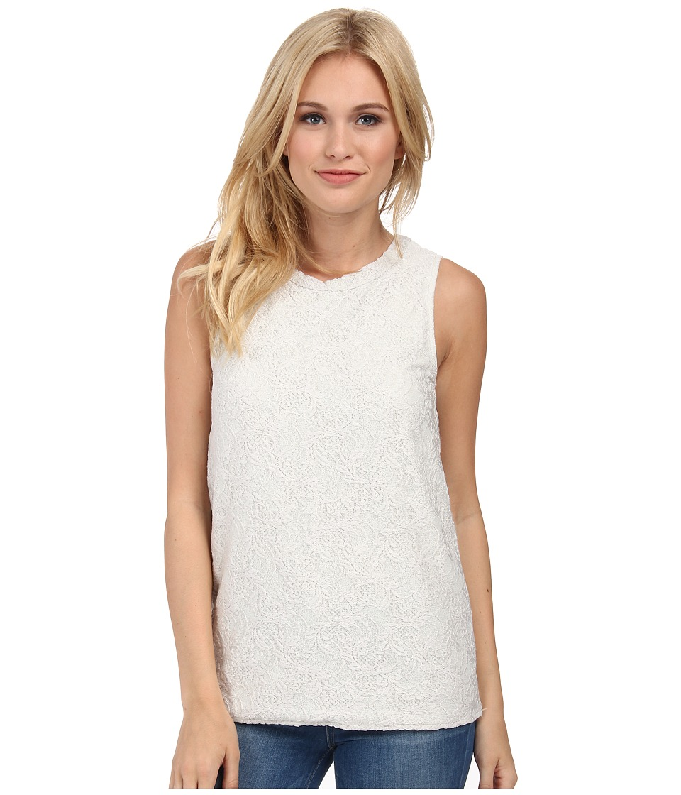 Chaser - Back Deep V Muscle Top (Salt) Women's Sleeveless