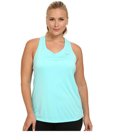 Nike - Dri-FIT Extended Miler Tank Top (Light Aqua/Reflective Silver) Women's Sleeveless