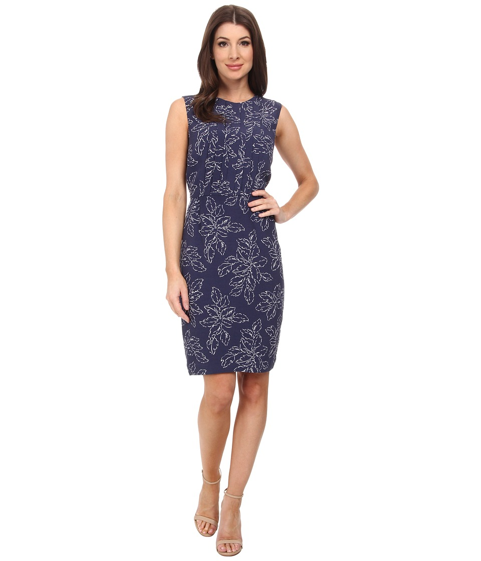 Pendleton - Janis Dress (Indigo Leaf Print) Women's Dress