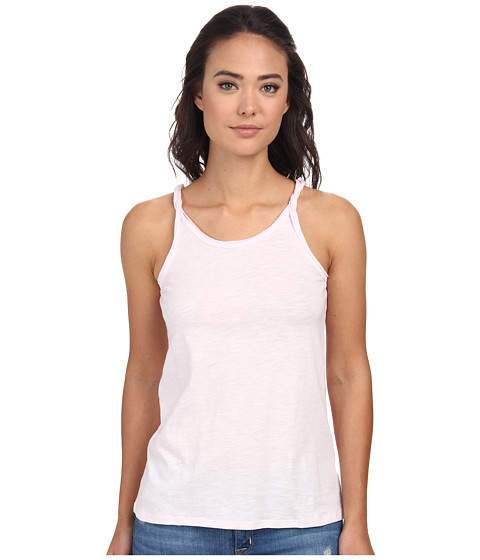 Chaser - Twisted Shoulder Tank Top (Opal) Women's Sleeveless