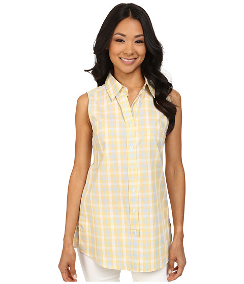 Pendleton - Sleeveless Tunic (White/Cornsilk/Kentucky Blue Check) Women's Sleeveless