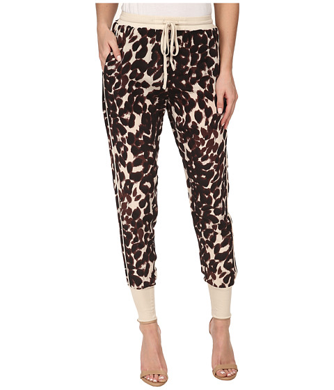 Chaser - Animal Print Panel Pants (Animal) Women's Casual Pants