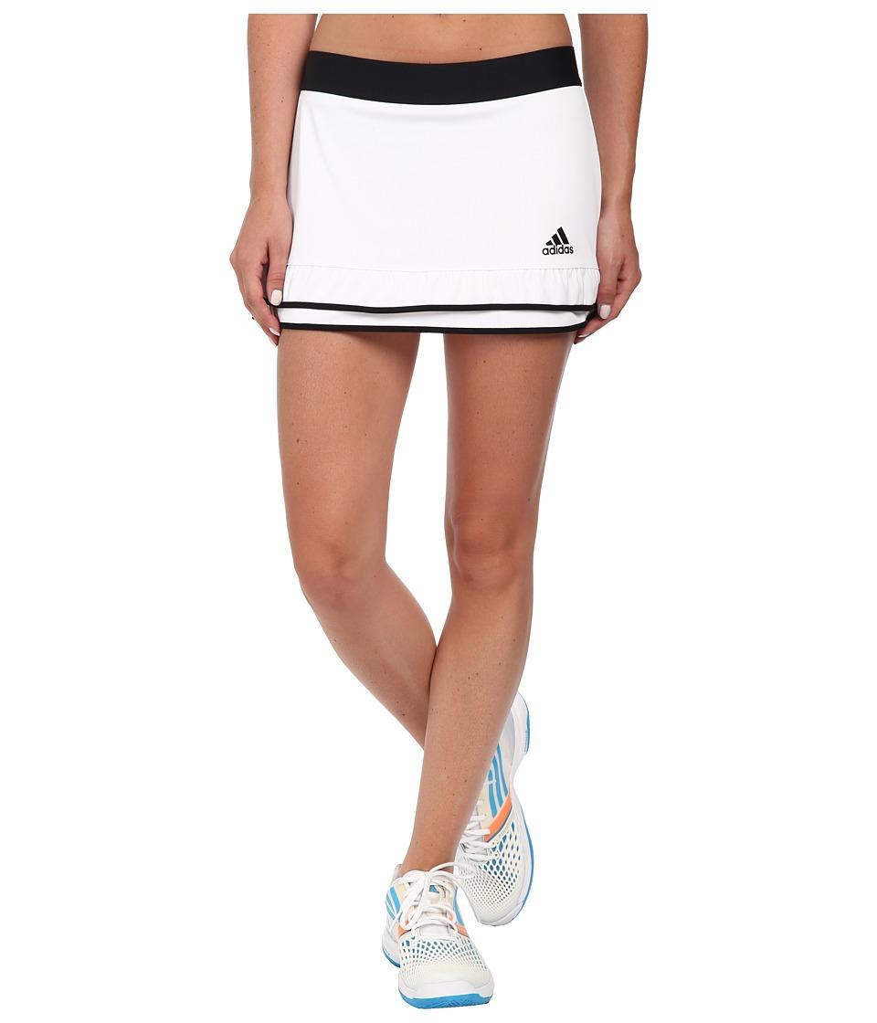 adidas - CLIMACHILL Skort (White/Black) Women's Skort