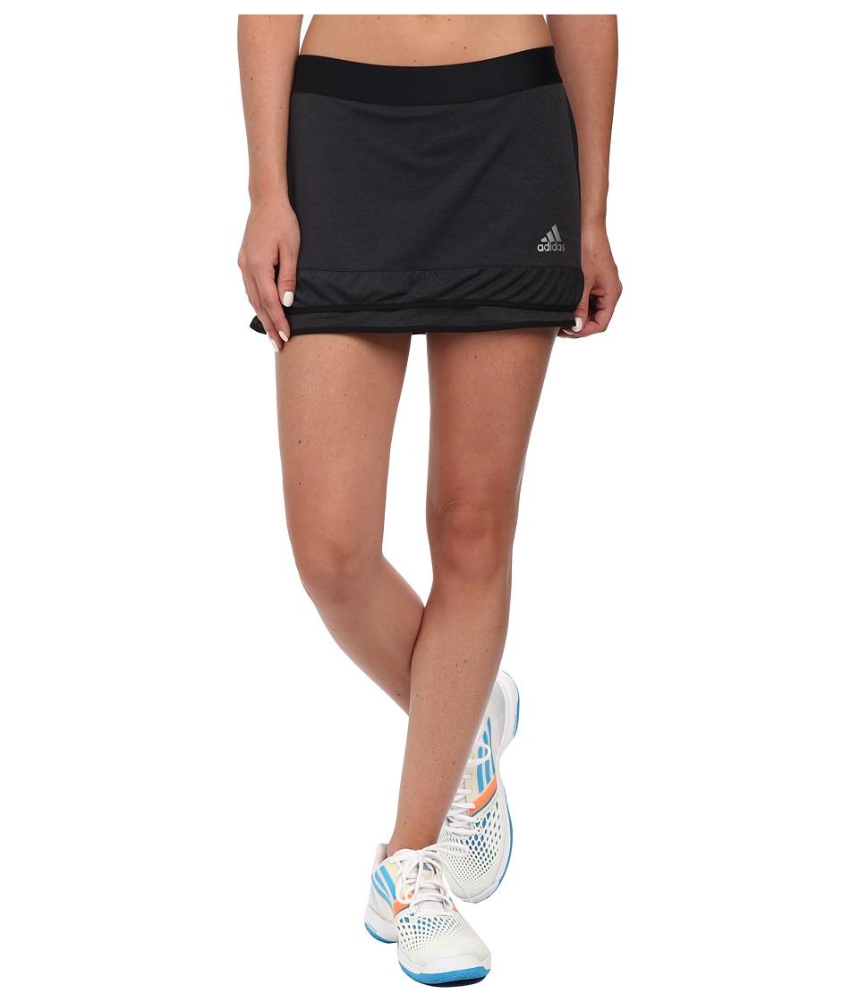 adidas - CLIMACHILL Skort (Chill Black Melange/Matte Silver) Women's Skort