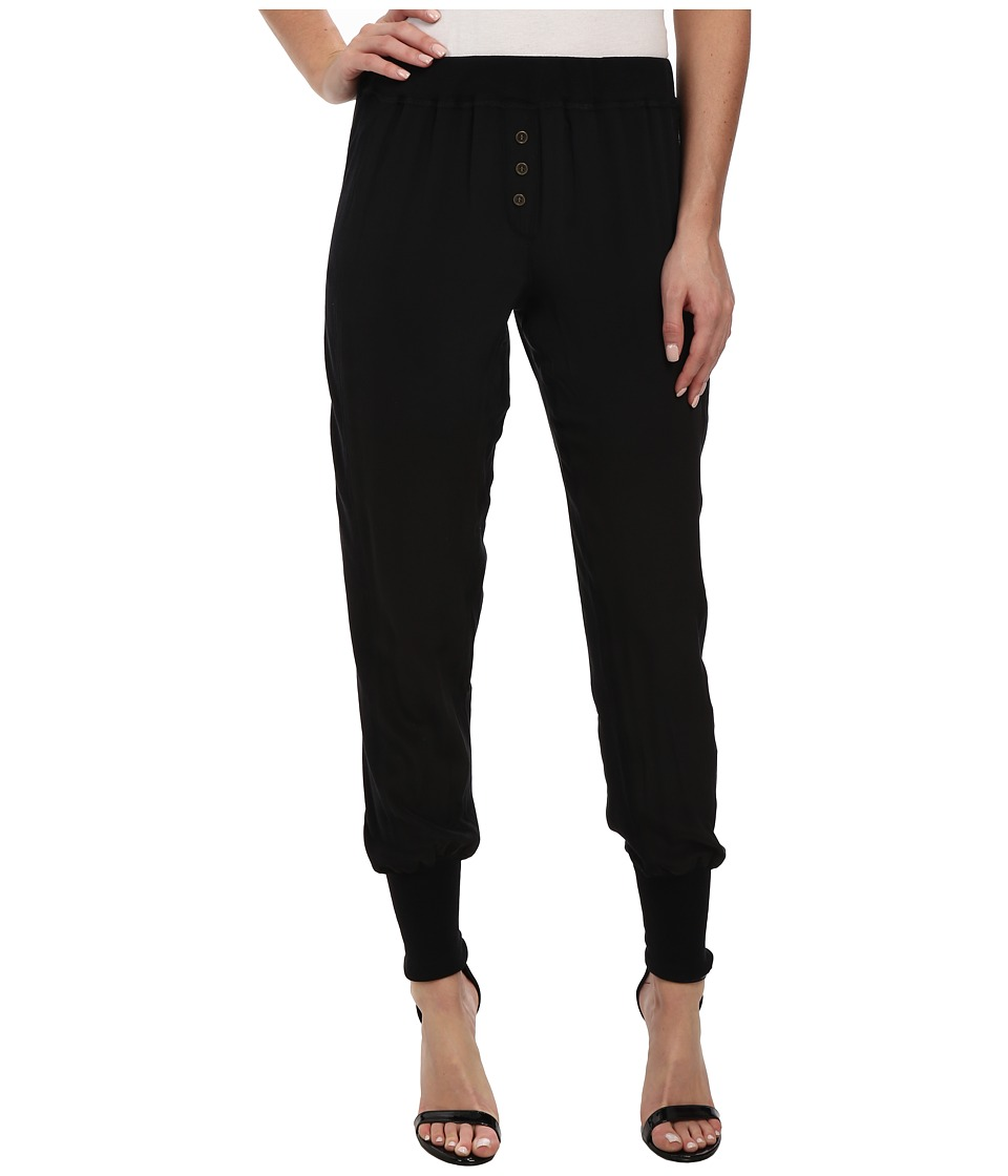 Chaser - Silk Long John Pants (Black) Women's Casual Pants