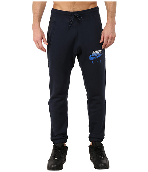 Nike - AW77 Fleece Cuff Pants Hybrid (Dark Obsidian/Dark Obsidian/Soar) Men