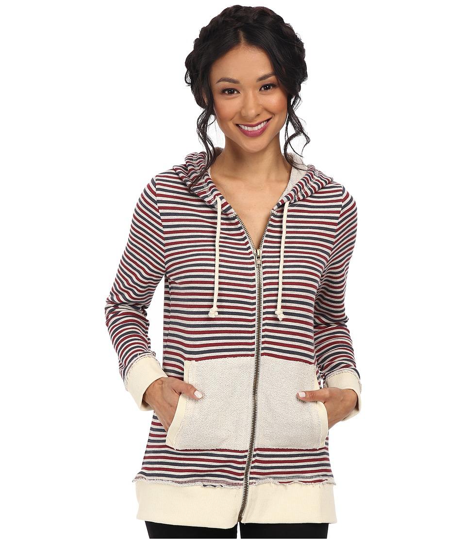 Chaser - Zip-Up Tunic Hoodie (Stripe) Women