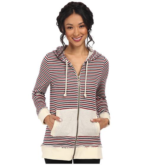 Chaser - Zip-Up Tunic Hoodie (Stripe) Women's Sweatshirt