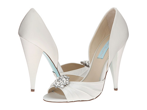 Blue by Betsey Johnson - Gia (Ivory Satin) High Heels