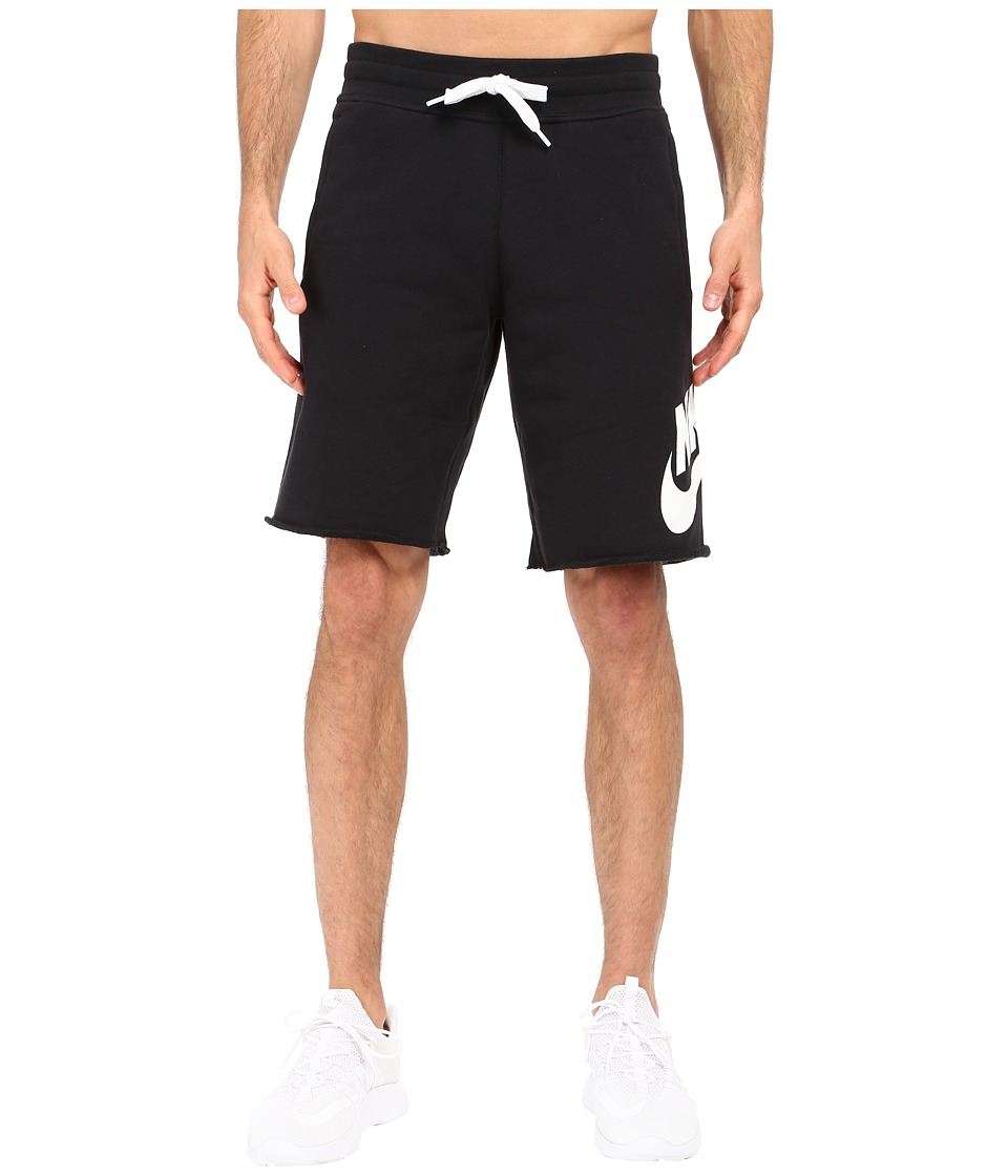 Nike - AW77 French Terry Alumni Shorts (Black/White) Men's Shorts