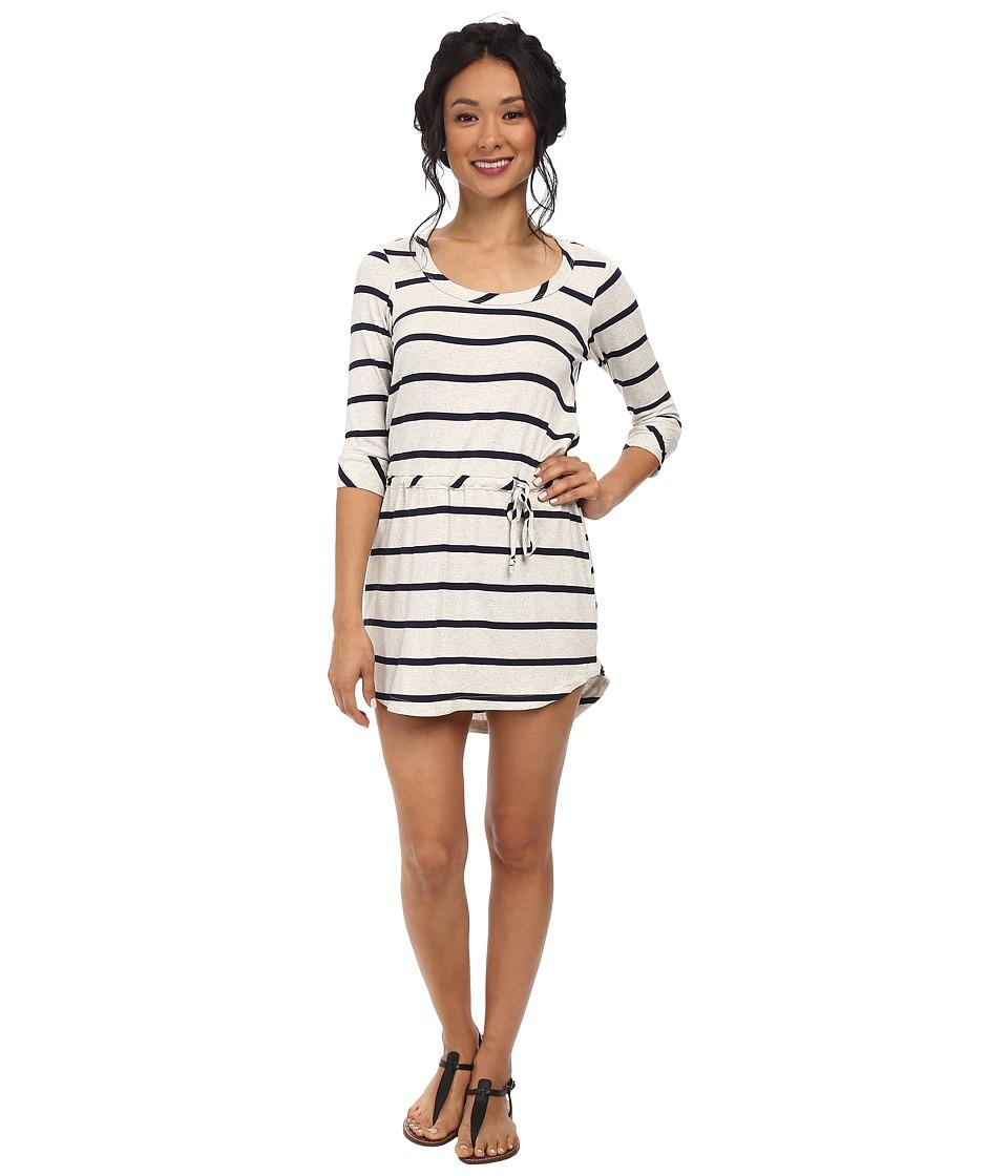 Chaser - Drape Back Shirttail Dress (Stripe) Women's Dress