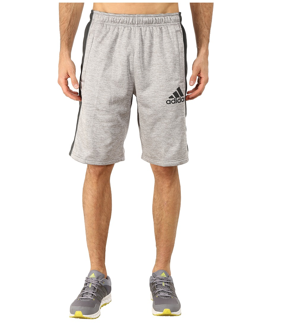 adidas - Team Issue Fleece Shorts (Medium Grey Heather/Black/Dark Grey) Men