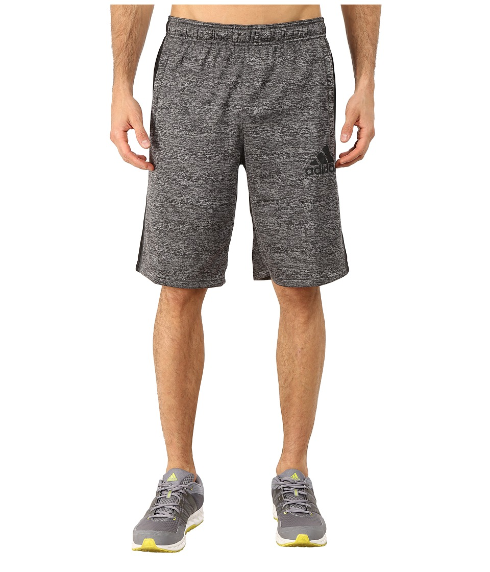 adidas - Team Issue Fleece Shorts (Dark Grey Heather/Black/Dark Grey) Men