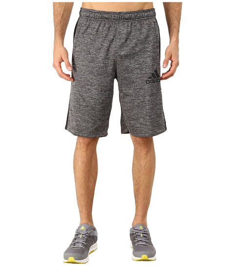adidas - Team Issue Fleece Shorts (Dark Grey Heather/Black/Dark Grey) Men's Workout