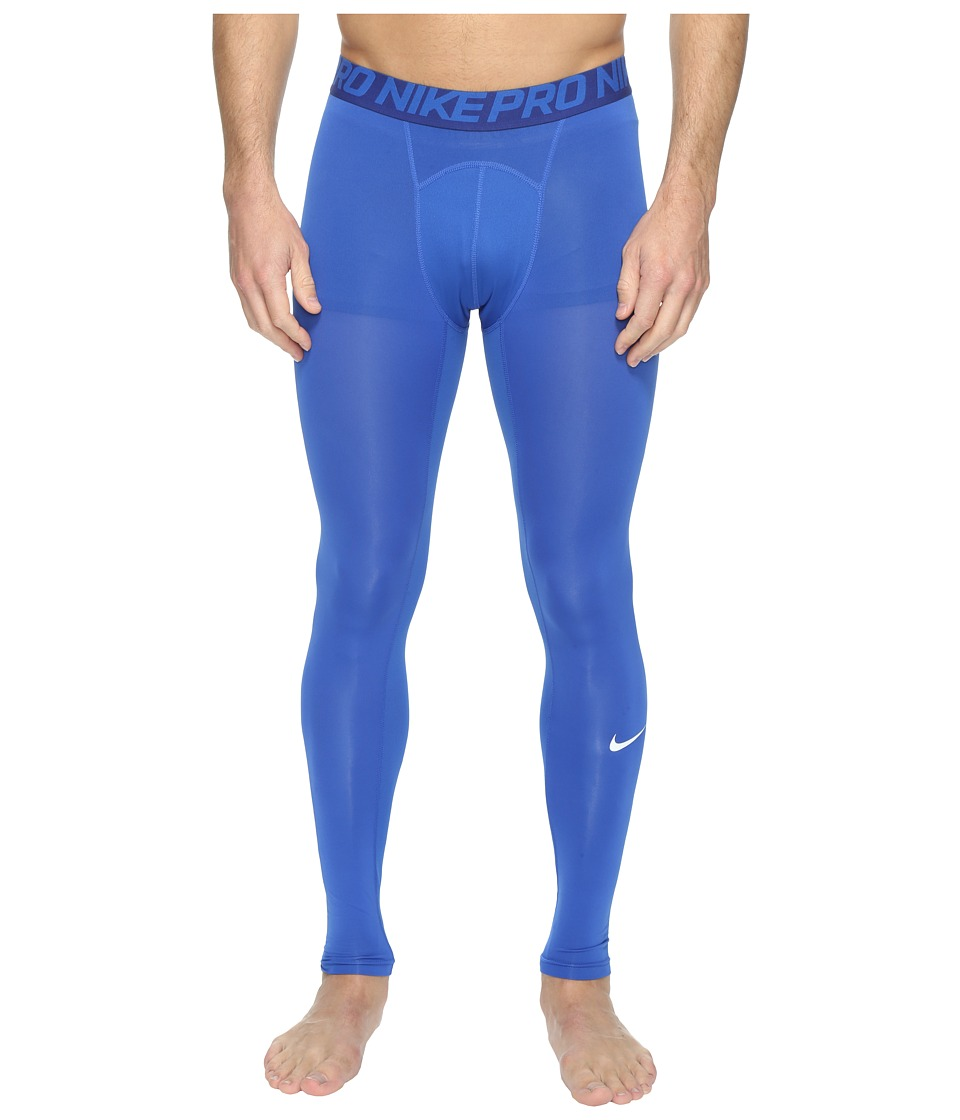 Nike - Pro Cool Compression Tight (Game Royal/Deep Royal Blue/White) Men's Workout
